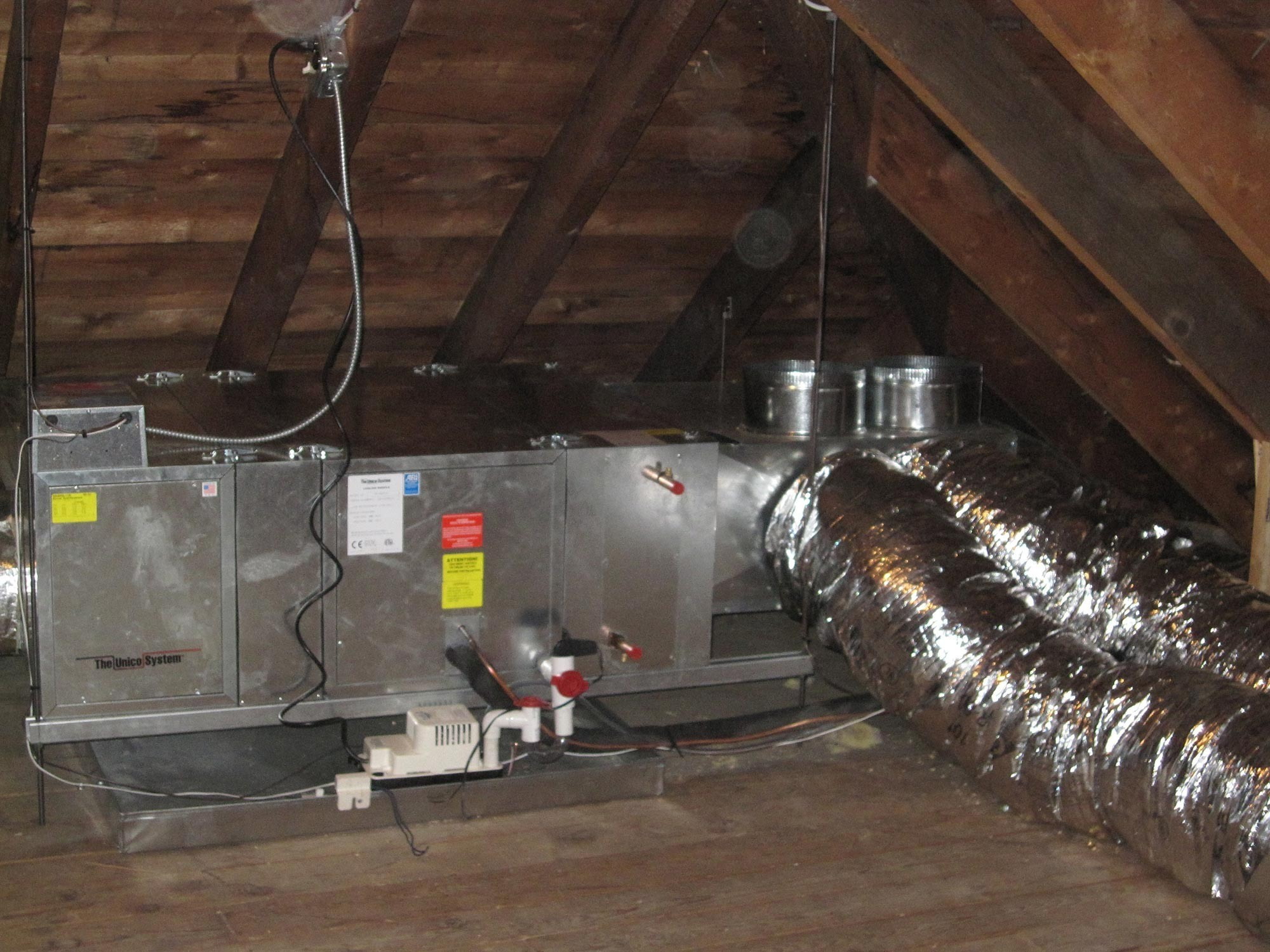 Unico High Velocity Attic AC System