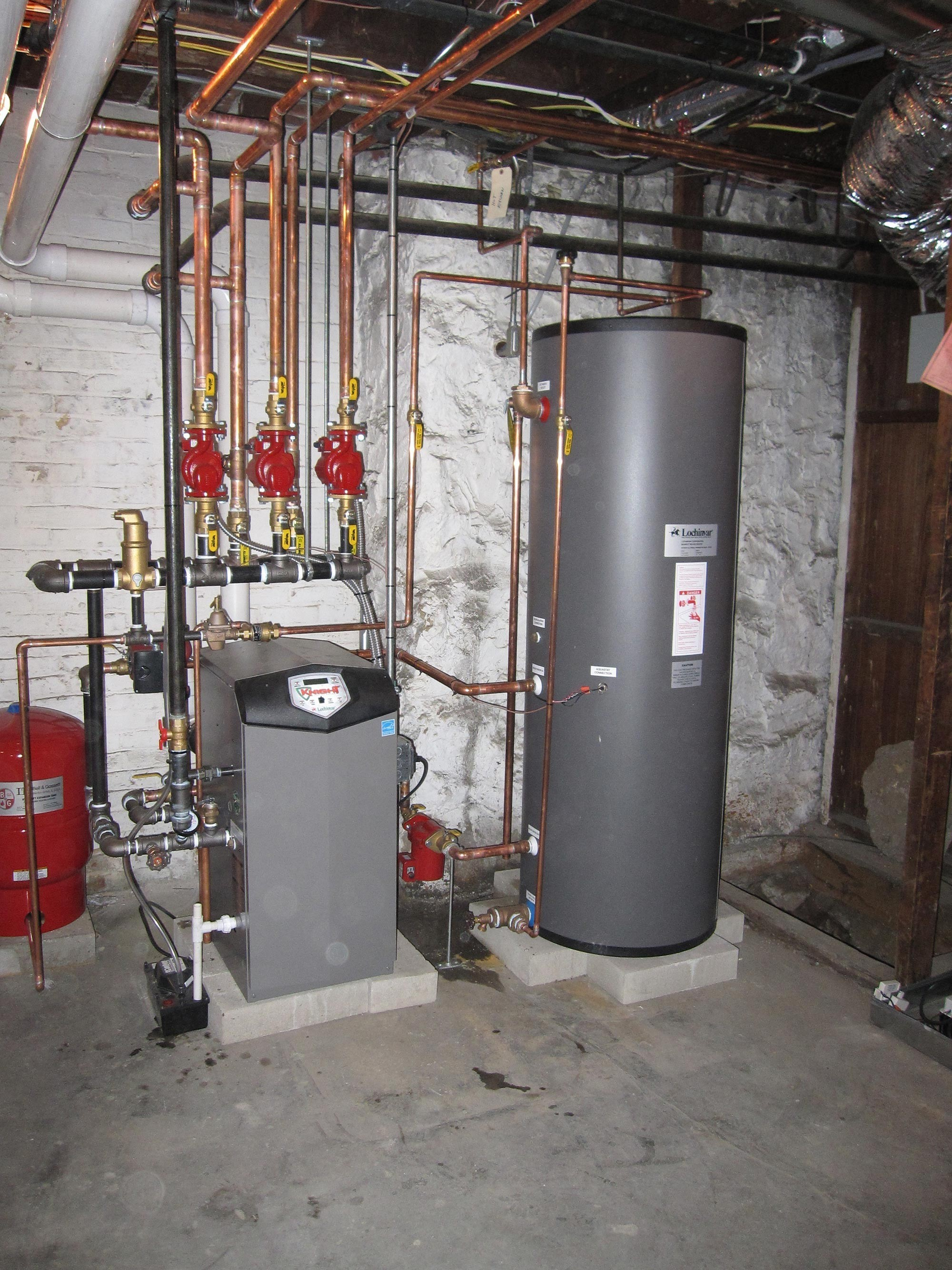 High Efficiency Gas Boiler With Hot Water Tank Amp High