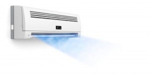 Air conditioner blowing cold air